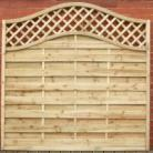 S PANEL with TRELLIS & OMEGA Top 1.8m Options